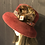 Thumbnail: Burgundy fur felt small Tiffany with mink tails