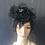 Thumbnail: Black Dahlia veiled fascinator