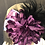 Thumbnail: Taupe vintage felt Scottie with purple