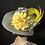 Thumbnail: Silver straw Ingrid with lemon yellow flower