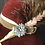 Thumbnail: Burgundy fur felt Garbo with garfish scales