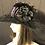 Thumbnail: Black Felt Ingrid with Aubergine