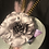 Thumbnail: Silver straw  Bette Davis with pale lavender and pheasant