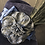 Thumbnail: Navy blue fur felt Garbo with check