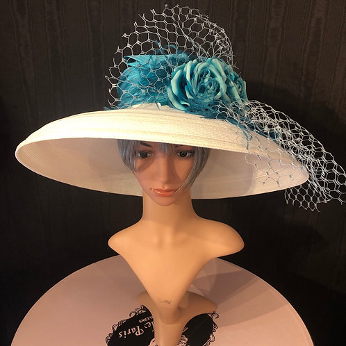 White stripe Tiffany with turquoise Rose