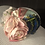 Thumbnail: Rose and mint striped straw round crown 5 inch