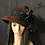 Thumbnail: Ox blood fur felt mad hatter with vintage black bird