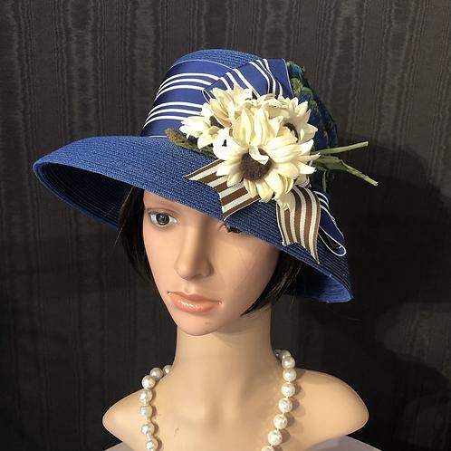Royal blue Toyo straw Coco