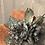 Thumbnail: Ox blood fur felt mad hatter with vintage black bird