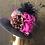 Thumbnail: Navy felt small Tiffany with feather creation