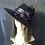 Thumbnail: Black fur felt Garbo with purple roses
