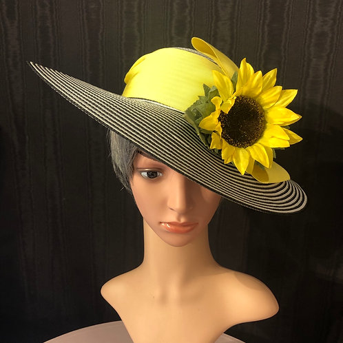 """Striped 4"""" with sunflower"""
