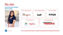 Ria Jain, Communication Design, Batch of 2020