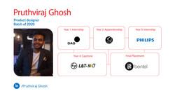 Pruthvraj Ghosh, Product Design, Batch of 2020