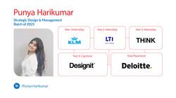 Punya Harikumar, Strategic Design Management, Batch of 2021