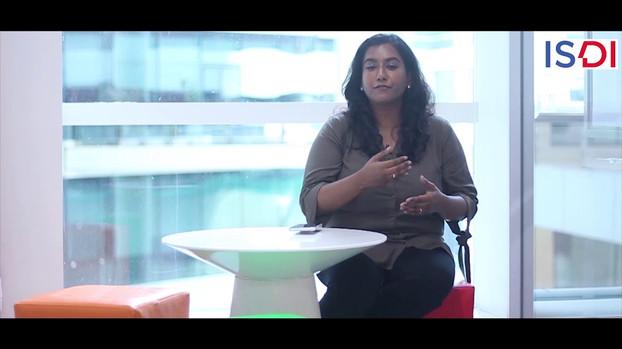 'Everyday shaped me to who I am today. As a D+I Postgraduate from ISDI, I run my own business today' by Samyukta Shenbagaraj