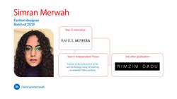 Simran Merwah, Fashion Design, Batch of 2019