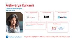 Aishwarya Kulkarni, Communication Design, Batch of 2020