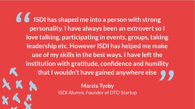 Marzia Tyeby, DOunder of DTD Startup