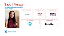 Saachi Merwah, Strategic Design Management, Batch of 2020