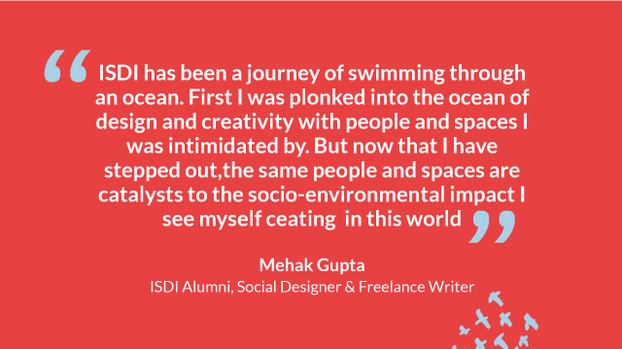 Mehak Gupta, Social Designer & Freelance Writer