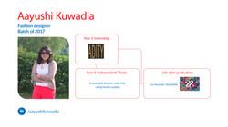Aayushi Kuwadia, Fashion Design, Batch of 2017