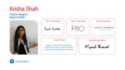 Krisha Shah, Fashion Design, Batch of 2018