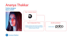 Ananya Thakkar, Fashion Design, Batch of 2027