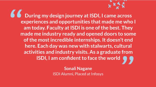 Sonali Nagane, Placed at Infosys