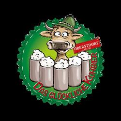 Kuh-Bier - Logo mit Oberstdorf
