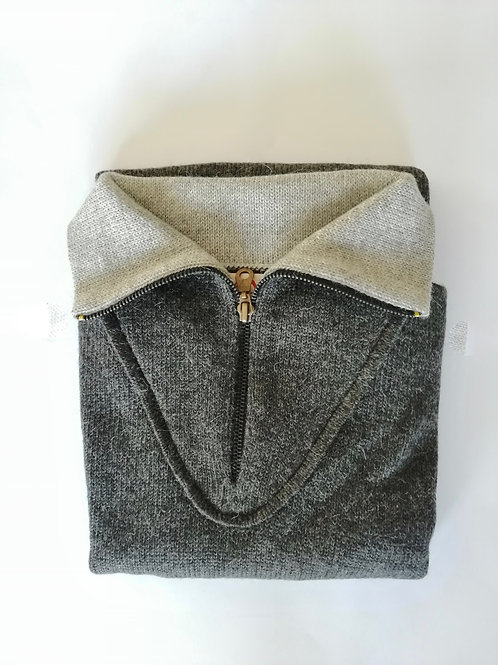 ALPACA SWEATER - GREY