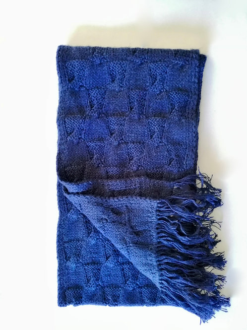 Minkha Alpaca Scarf - Parquet Square Knitting