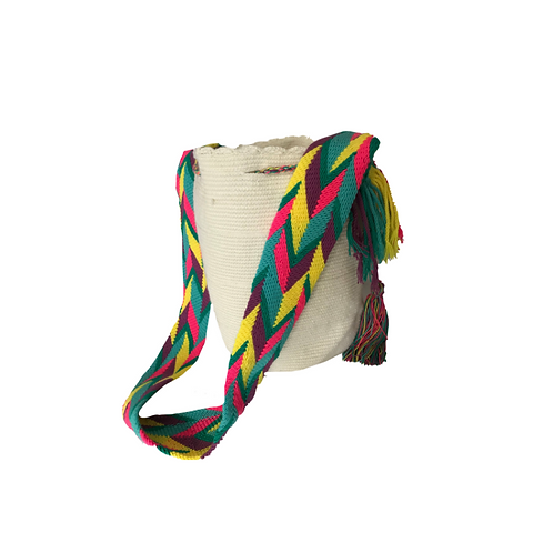 WAYUU BAG - WHITE & MULTI COLOR