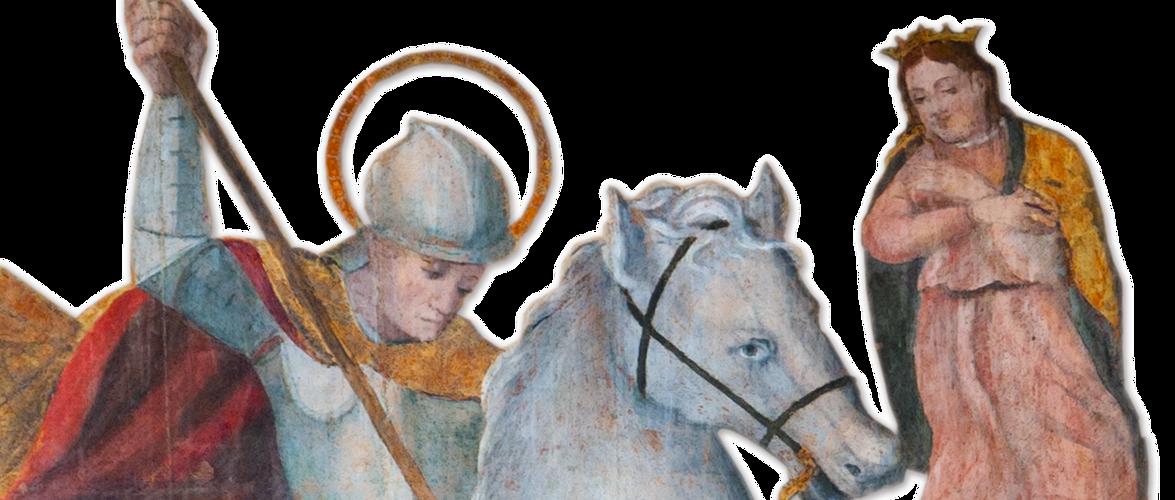 Retablo di S. Giorgio, XVI sec., particolare, Maestro di Perfugas