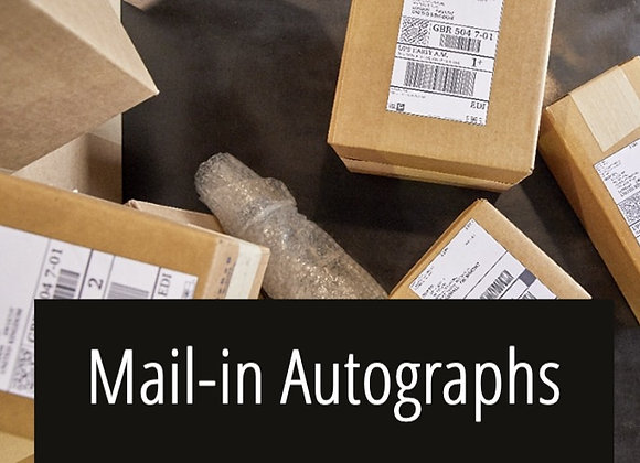 Mail Your Item to be Autographed