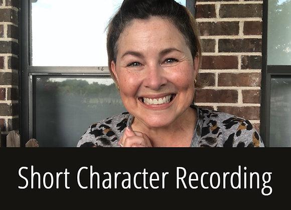 :20 Short Character Recording