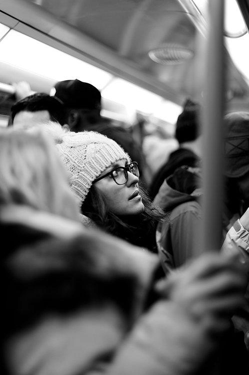 London Tube - crowded