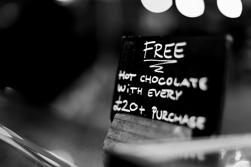 Free hot chocolate