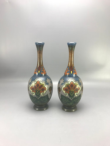 Amphora vazen met bloemen decor