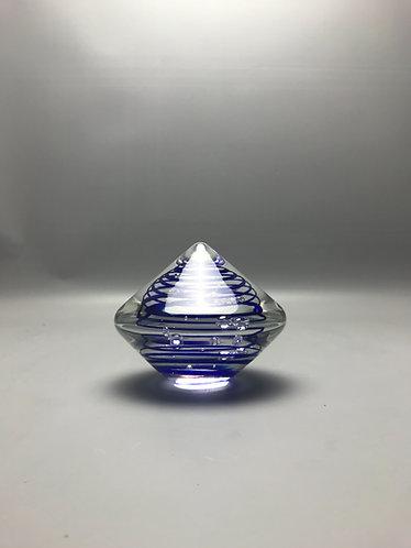 Dubbelzijdige glas kegel met blauwe spiraal, bieden vanaf