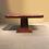 Thumbnail: Art Deco wortelnoten eethoek met wit leren stoelen
