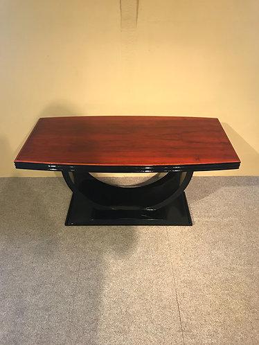 Salon tafel met rode en zwarte lak, bieden vanaf