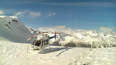 Heli Skiing on Shames Mountain