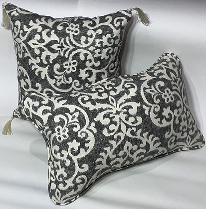 Shadow Damask Graphite Pillow Set