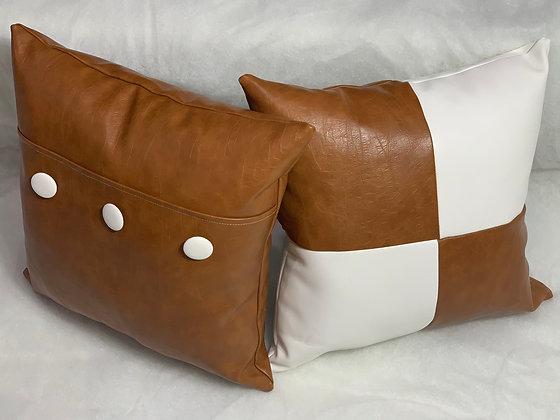 """16"""" Caramel and Cream Pillow Set"""