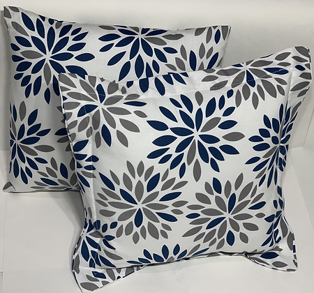 16 in Waverly Inspirations Navy and Grey Pillow Set