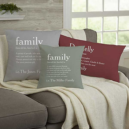 Family Definition Personalized Pillow