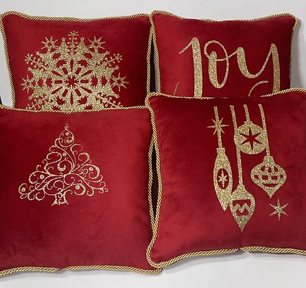 Velvet Holiday Pillow Set