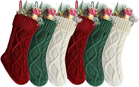 "18""  Knit Christmas Stocking"