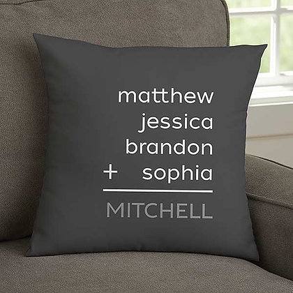 Family Addition Personalized Pillow